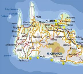 Chania Crete Map Skinary Villas